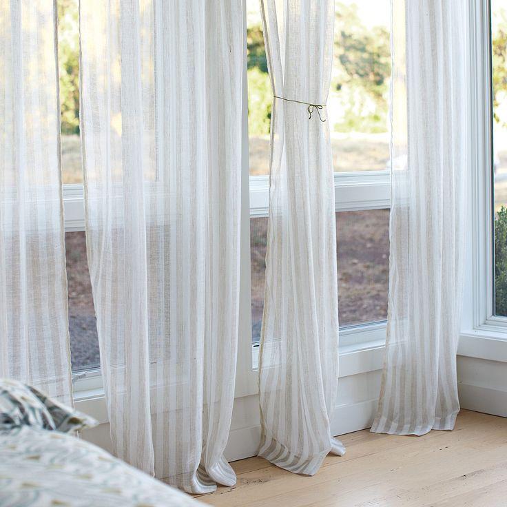 Linen Stripe Window Panel | Serena & Lily