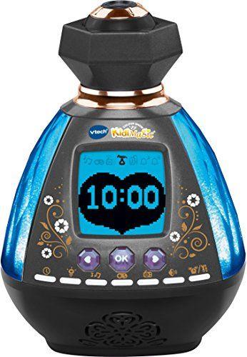 Vtech – Kidimagic Color Show: KidiMagic en forme de flacon de parfum, qui projette l'heure et de jolies étoiles au plafond Commandes par…