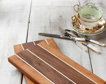 Wooden Cheese Boards, Wedding Gift, Maple, Walnut and Cherry Cutting Boards