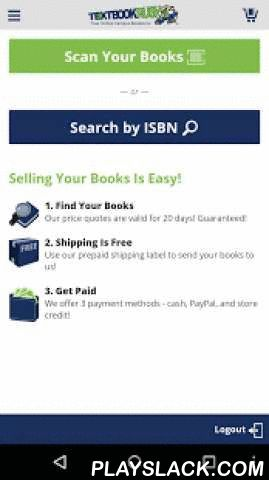 TextbookRush – Sell Books  Android App - playslack.com , Sell your textbooks for top payouts with the TextbookRush app. Scan book barcodes and get instant price quotes on the go. TextbookRush offers three payment methods so you can pick which works best for you. Best of all, TextbookRush pays for your shipping.Sell your textbooks the easy, no-hassle way. Scan your textbook barcode anytime, anywhere. Don't enter ISBNs manually any more. Let the app do the work for you.Here's how it works:•…