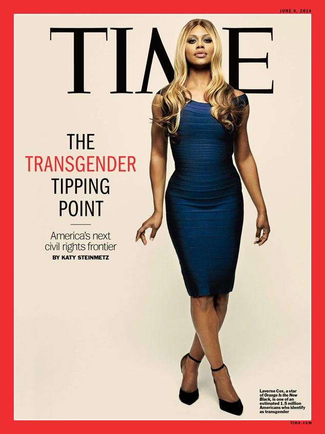 Orange Is the New Black star Laverne Cox becomes the first transgender person to land the cover of Time magazine.