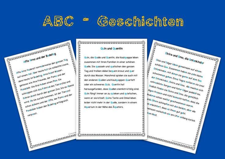 ABC Geschichten für die Buchstabeneinführung in Klasse 1
