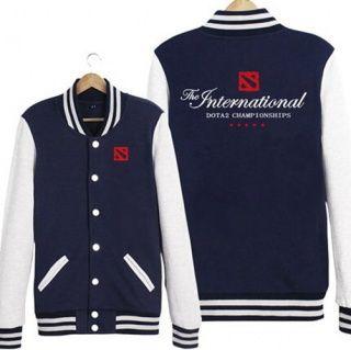 DOTA 2 camisola para homens Dota 2 campeonato de beisebol jaquetas XXXL
