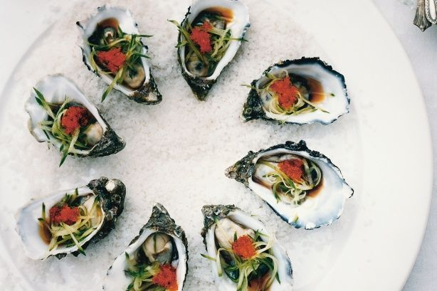 Pass around a platter of juicy Japanese flavoured oysters at your next cocktail party and watch them fly off the plate.