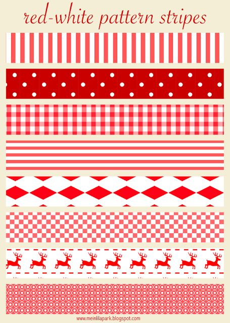 FREE printable red and white Christmas