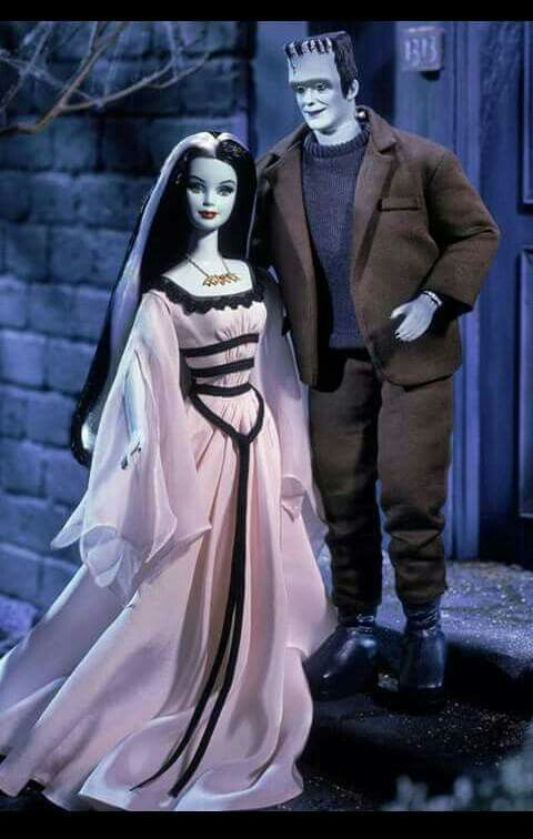 Barbie And Ken As Herman And Lily Munster Barbie Dolls