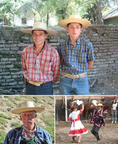 Arrieros, horsemen, cowboys of Chile, and their families, friends of horseridingchile.com