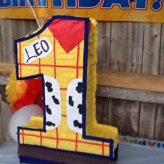 Toy story number pinata by Mylittlesofy on Etsy