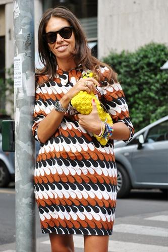 Viviana Volpicella, and a dash of yellow.