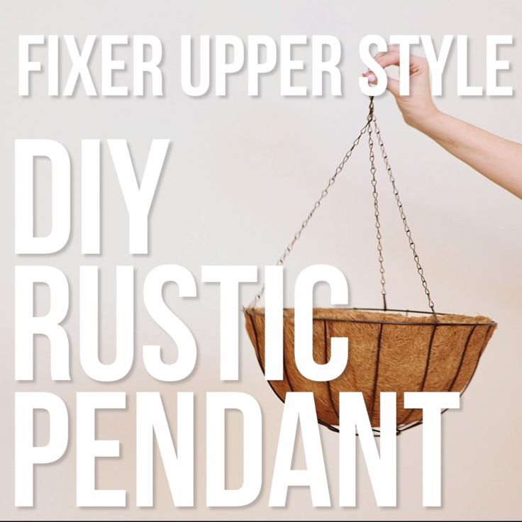 DIY Rustic Pendant Light