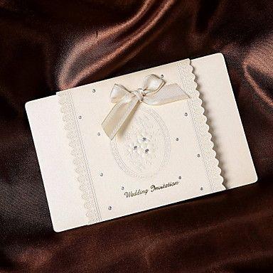 Simple Wedding Invitasjon med bånd bue (sett av 50) – NOK kr. 331