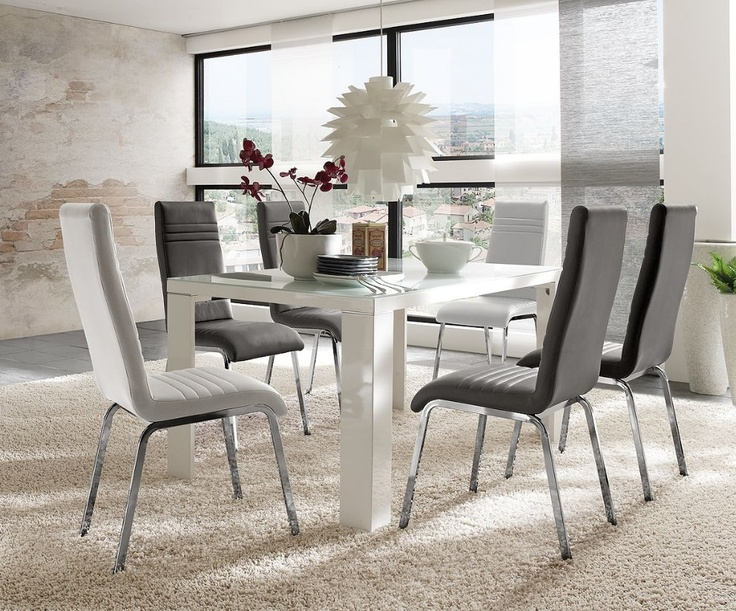 esstisch ausziehbar 140x80 perfect esstisch modern. Black Bedroom Furniture Sets. Home Design Ideas