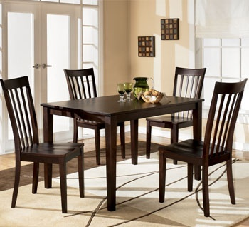Shop For The Ashley Furniture Hyland Rectangular Dining Table With 4 Chairs At Reids Countrywide
