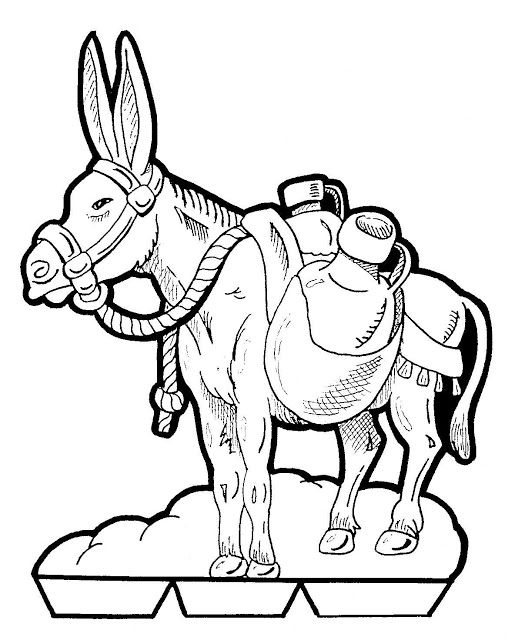 bible talking donkey coloring pages - photo#22