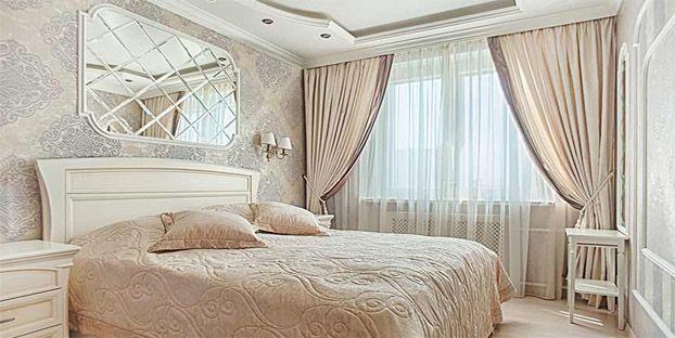 Шторы и покрывало для спален в стиле Классицизм
