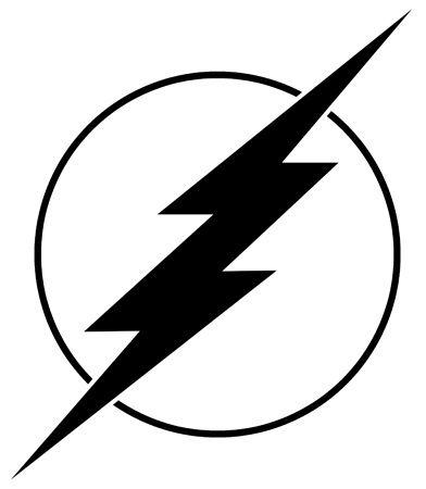 the flash flash logo decal super hero logo pinterest. Black Bedroom Furniture Sets. Home Design Ideas