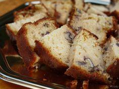 Cake au chèvre, miel et noix