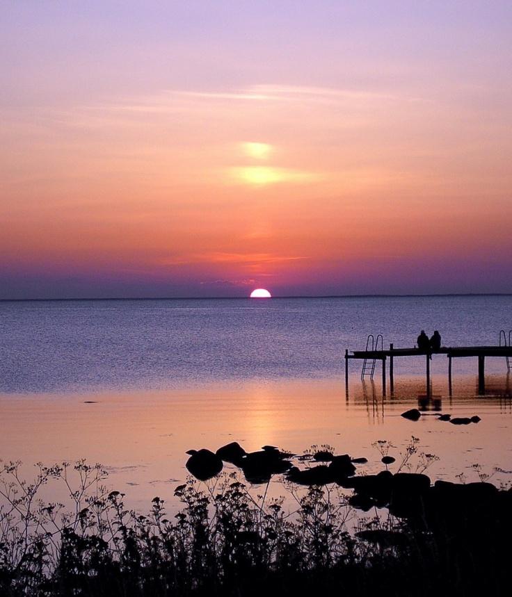 Sunset on Öland in Sweden