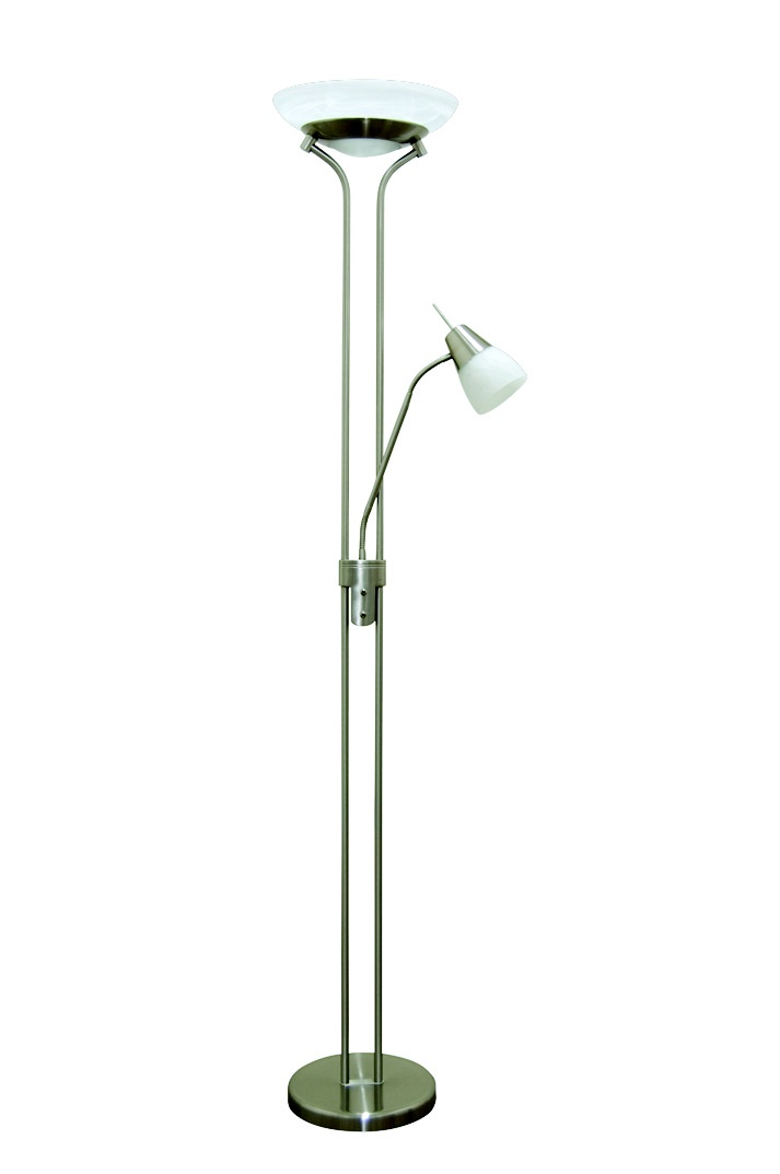 Gibson Floor Lamp   Available in nickel or antique brass.