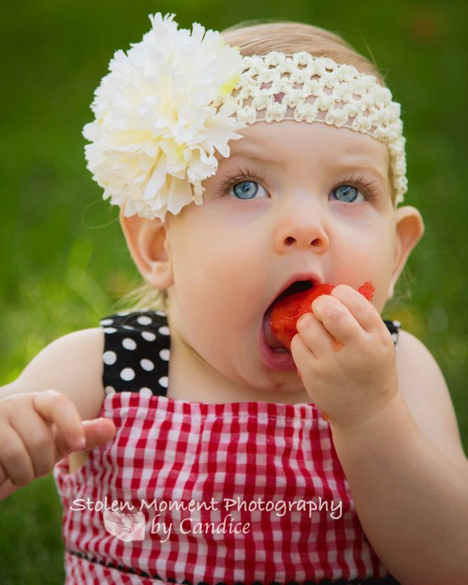 """One Year Old Watermelon """"Smash"""" Session with Cydney!"""