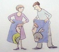 Een stuk voor mama en een stuk voor papa, over echtscheiding - prentenboek