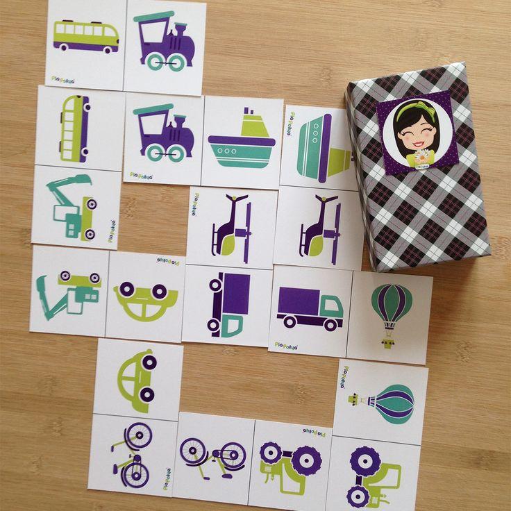 Pia Polya Taşıtlar  Domino  12ay ve 48ay çocuklar için uygundur. A3