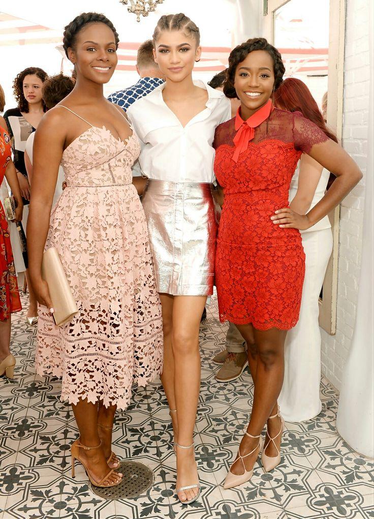 Actresses Tika Sumpter, Zendaya Coleman, Aja King photography
