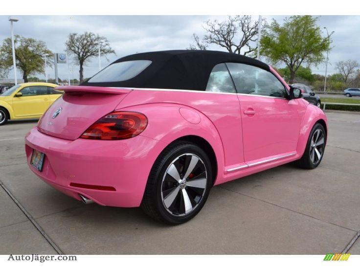 pink beetle ideas  pinterest pink volkswagen beetle volkswagen beetles  bug car