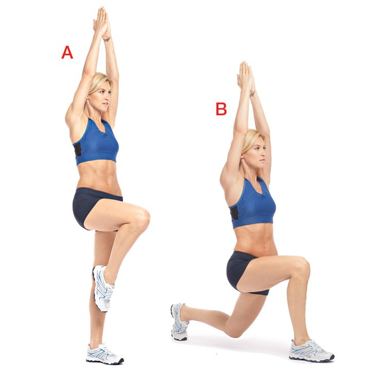 Get a flat stomach and a tight butt with these easy moves like stability lunges