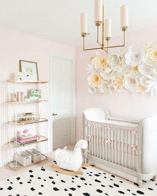 #BabyGirl #Nursery #Pink #White #Gentle - Architecture and Home Decor - Bedroom - Bathroom - Kitchen And Living Room Interior Design Decorating Ideas - #architecture #design #interiordesign #homedesign #architect #architectural #homedecor #realestate #contemporaryart #inspiration #creative #decor #decoration