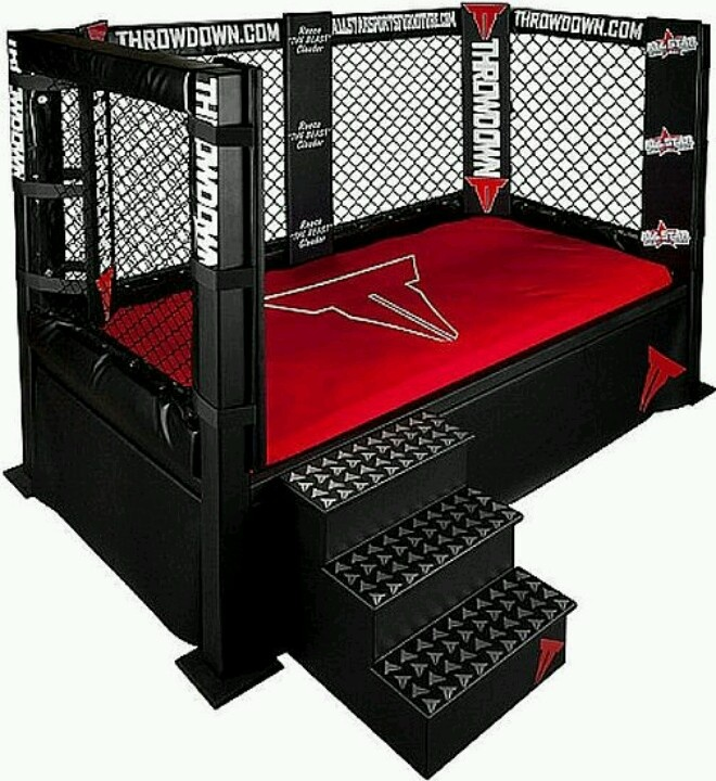 Wrestling pin for a bed! My daughter is a huge WWE fan ...