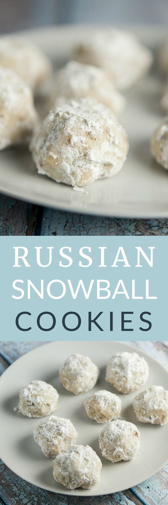 The BEST Powdered Sugar SNOWBALL Cookies! This is my favorite Christmas cookie recipe! These Russian Tea Cake Cookies are so easy to make! They're made with pecans and then rolled in powdered sugar after baking! I make a few batches to hand out for gifts around the holidays - everyone always love them!