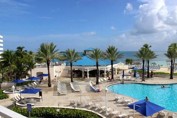 A great place for a Nassau day pass in the Melia Beach Resort at Cable Beach. Located just a few minutes from the cruise terminal and away from the masses.