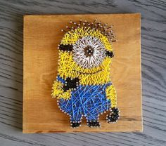 Minion Inspired String Art Set Custom Made by NailedItArtistry