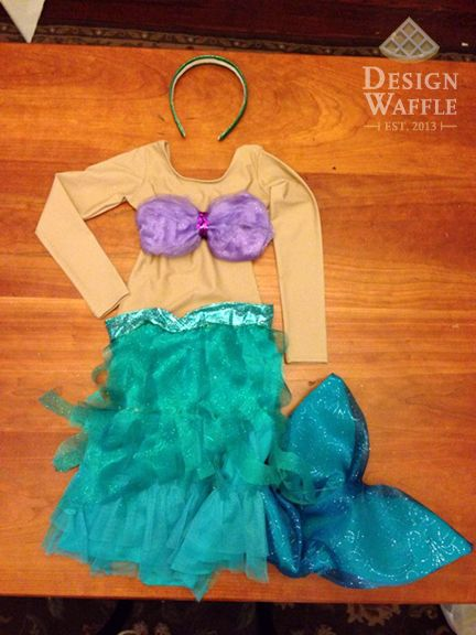 DIY Little Mermaid Ariel Girl Costume