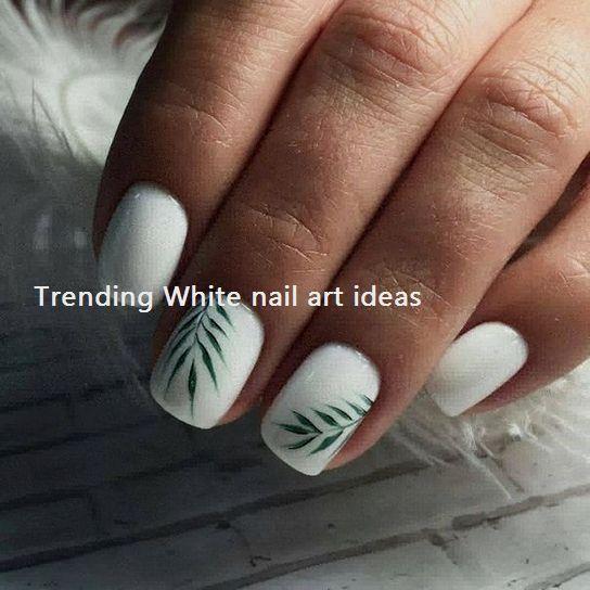 30 Simple Trending White Nail Design Ideas Naildesign Nailart