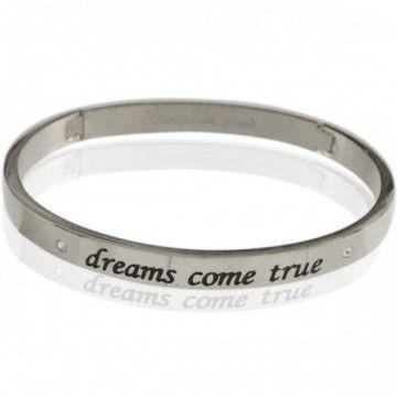 """Bangle """"Dreams come treu"""" silver"""