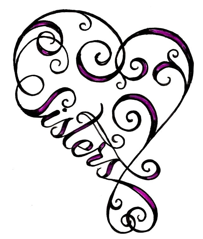 heart sister tattoo @Christina Childress Childress Childress Childress Childress Childress Childress Childress Childress Jones. Again, I need to create a board for the things that remind me of you! Especially since I dont have a sister. ;)