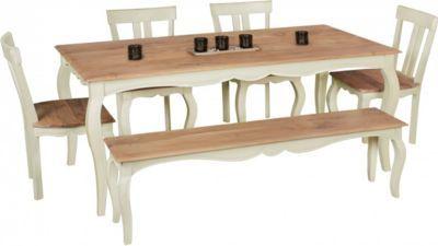 Wohnling WOHNLING Vintage Esszimmertisch Weiß massiv 200 x 100 cm | Esstisch aus Mango Massivholz | Opium Küchentisch rechteckig Jetzt bestellen unter: https://moebel.ladendirekt.de/kueche-und-esszimmer/tische/esstische/?uid=627a0f74-c4ef-5c39-9fb1-3cb7a6f98fd8&utm_source=pinterest&utm_medium=pin&utm_campaign=boards #kueche #esstische #esszimmer #tische