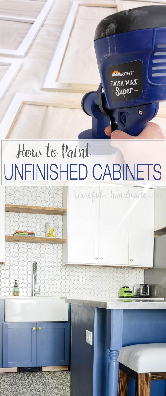 Learn How To Paint Unfinished Cabinets To Get The Kitchen Of Your Dreams Whether You Bu Unfinished Cabinets Unfinished Kitchen Cabinets Budget Kitchen Remodel
