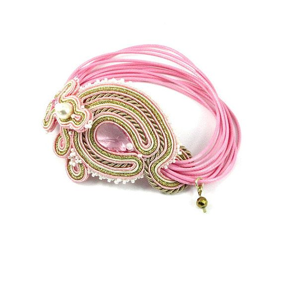 Soutache bracelet delicate bracelet wrap by byPiLLowDesign on Etsy, $75.00