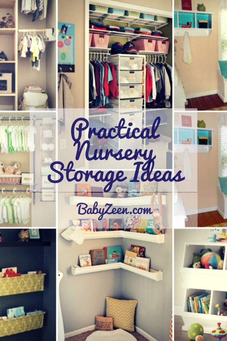 51 Creative And Practical Nursery Storage Ideas With Images Babyzeen Com Nursery Storage Nursery Closet Organization Bedroom Storage