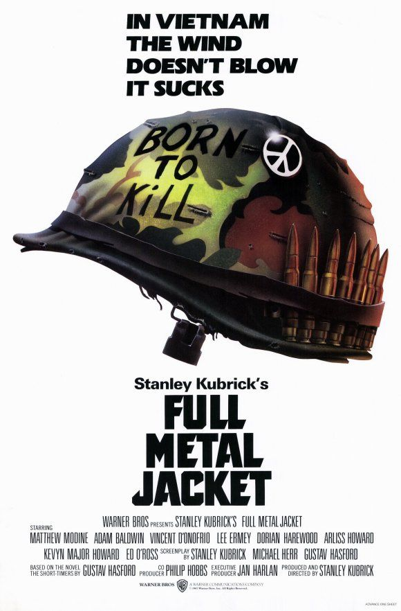 Full Metal Jacket (1987) - Number 76 on the list. I find Stanley Kubrick to be a very disturbing director, and I'm not particularly looking forward to this one...