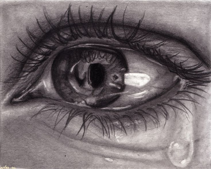 Crying Eye Drawing, How
