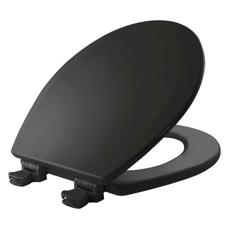 wooden black toilet seat. round molded wood seat with easy clean u0026 change hinge toilet black Black Toilet Seat I Will Have A Glittered One Day