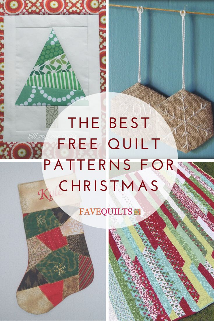 178 best images about Free Christmas Quilt Patterns on Pinterest Stockings, Quilt and ...