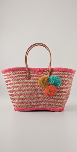 fashion/swimsuit special - And to go with your cute suit ... a cute bag!  Mar Y Sol, Baja Woven Tote, $87