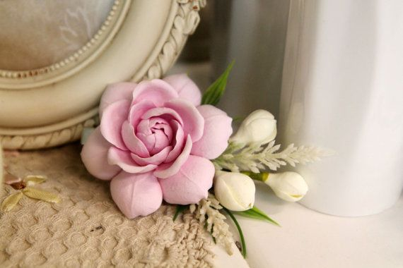 FERMACAPELLI floreale, gioielli fatti a mano fiori, polymer Clay accessori per capelli, Fermacapelli, fiore barrette, fiori rosa, fiori di…
