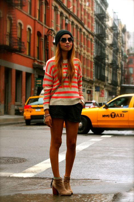 jeffrey campbell boots, fall shorts and where's waldo sweater..yes please