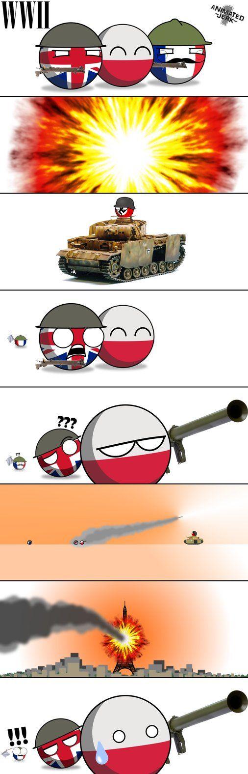 Countryballs 'Polandball': WWII by animatedjerk